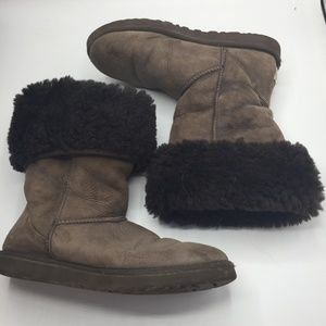 UGG Classic Tall Suede & Sheepskin Boots